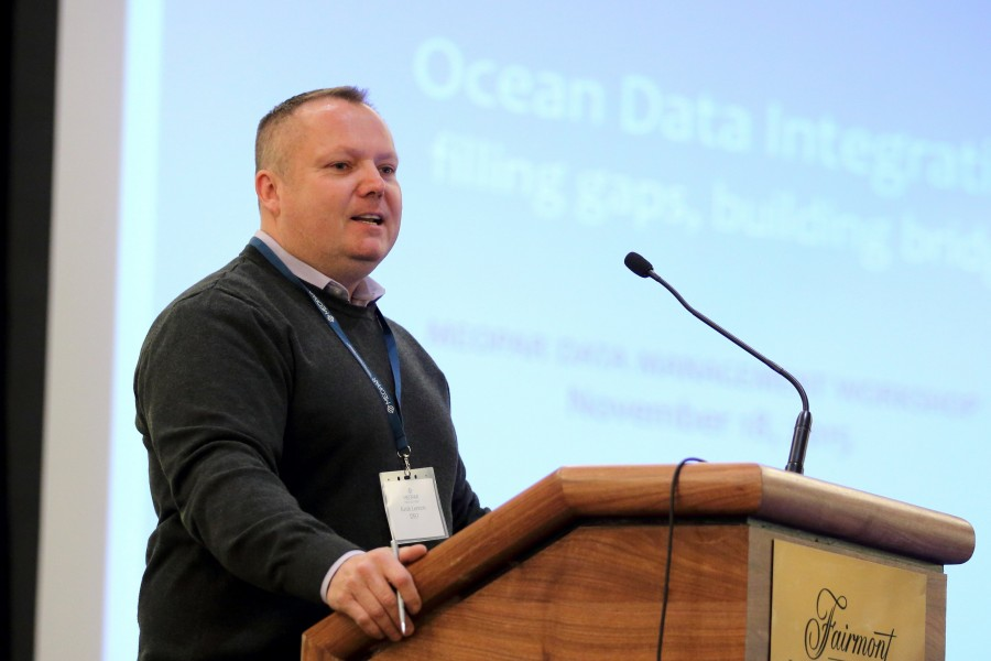 Keith Lennon (Director, Ocean Science) of Fisheries and Oceans Canada was one of the keynote speakers at MEOPAR's Expert Forum on Ocean Data Management (Nov, 2015).  MEOPAR works closely with DFO on ocean data management issues as well as a variety of other projects and initiatives.
