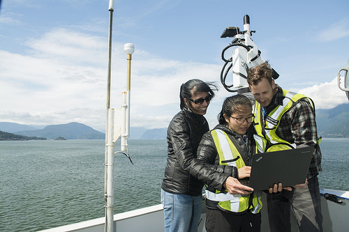 PI Dr. Maycira Costa partnered with BC Ferries to install a sensor aboard the