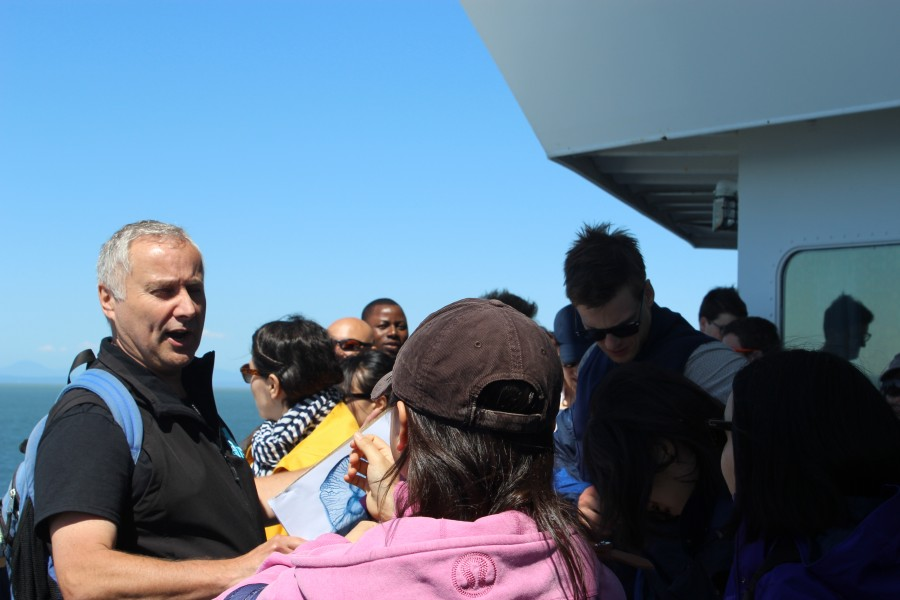 Dr. Richard Dewey (Ocean Networks Canada) taught MEOPeers about observing instruments on commercial vessels while on a field trip aboard a BC Ferries vessel during the 2015 Annual Training Meeting (Vancouver, BC).