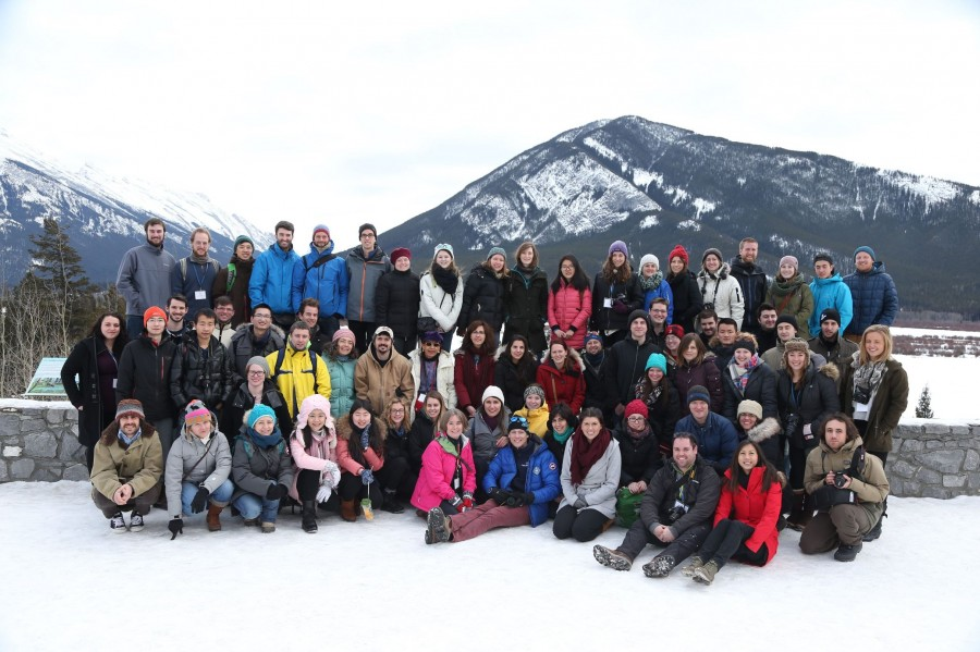 MEOPeers paused for a group photo at the end of their research photography workshop during the 2016 Annual Training Meeting (Banff, AB).